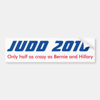 Keith Judd für Präsidenten 2016 halber verrückter Autoaufkleber