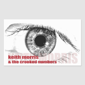 Keith Morris u. die gekrümmten Zahlaufkleber Rechteckiger Aufkleber
