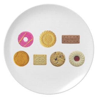 Keks-Auswahl Melaminteller