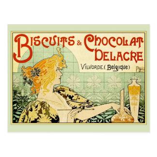 Kekse u. Chocolat Delacre (Salbei) Postkarte