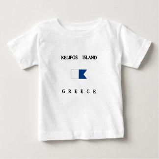 Kelifos Insel-Alphatauchen-Flagge Baby T-shirt