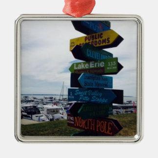 """""""Kelleys Insel-"""" Ohio-Weihnachtsverzierung Silbernes Ornament"""