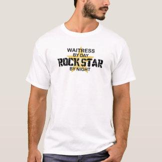 Kellnerin-Rockstar bis zum Nacht T-Shirt