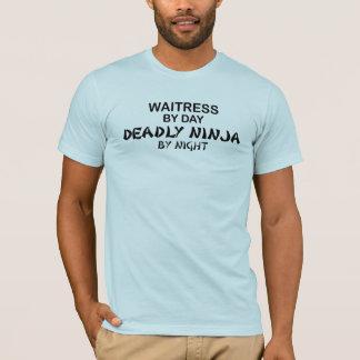 Kellnerin tödliches Ninja bis zum Nacht T-Shirt