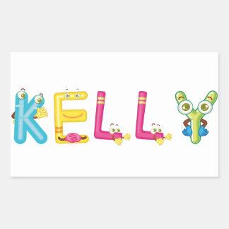 Kelly-Aufkleber Rechteckiger Aufkleber