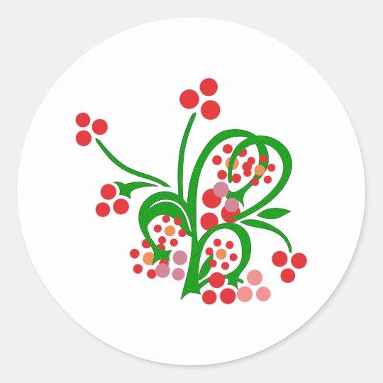 Kelten Blumen Ornament celtic flowers Runder Aufkleber