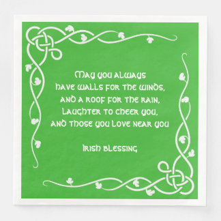 Keltische Borte - weißes und grünes irisches Servietten
