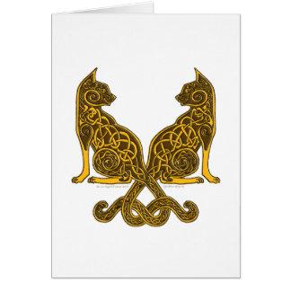 keltische Bronzegold der Katzen 6 Karte