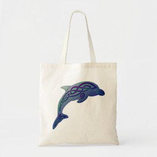 Keltische Delphin-Taschen-Tasche Tragetasche