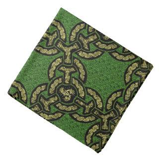 Keltische Drache-Kette auf Grün Halstuch
