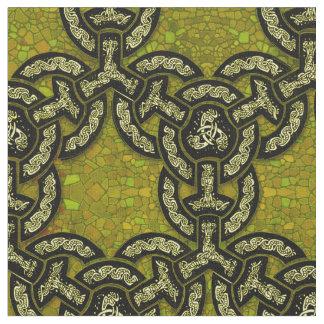 Keltische Drache-Kette im dunklen Gold Stoff