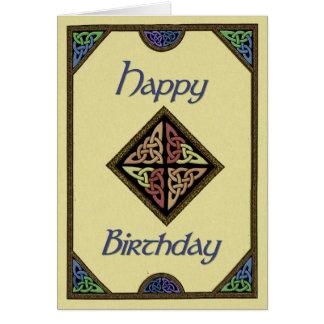 Keltische Entwurfs-Geburtstags-Karte Karte