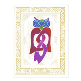 Keltische Eule II Postkarte