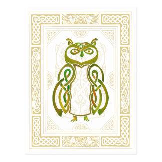 Keltische Eule Postkarte