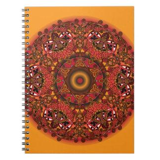 Keltische Fall-Fee-Mandala Spiral Notizblock