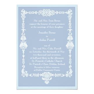Keltische Feld-Hochzeits-Einladung - Art 2 Karte
