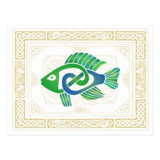 Keltische Fische Postkarte