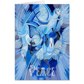 Keltische Friedenstaube Karte