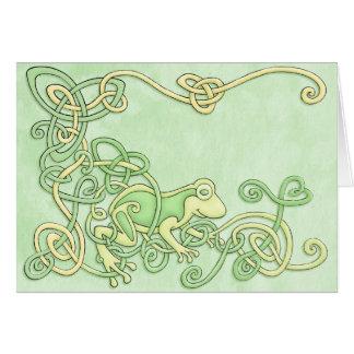 Keltische Frosch-Gruß-Karte Karte
