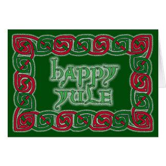 Keltische glückliche Weihnachten-Gruß-Karte Grußkarte