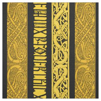 Keltische Grenzen im Gold Stoff