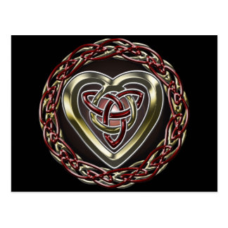 Keltische Herz-Postkarte