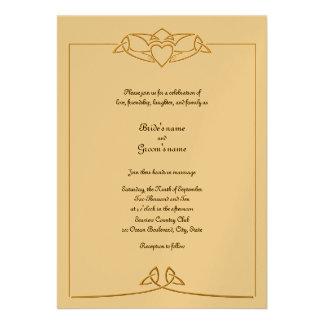 Keltische Hochzeits-Einladung