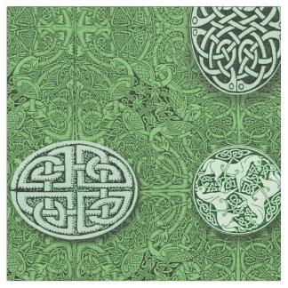 Keltische Hunde, Pferde und Vögel Stoff