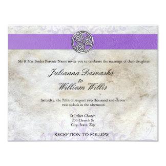 Keltische irische gälische Triskelion Hochzeit Individuelle Einladung