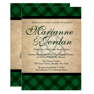 Keltische karierte Hochzeit Karte