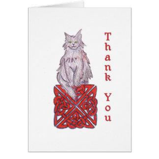 Keltische Katze danken Ihnen zu merken Karte