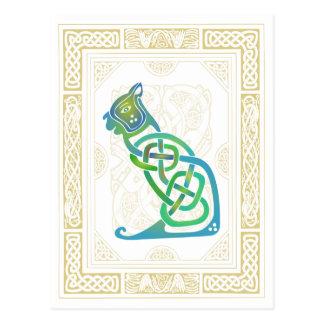 Keltische Katze Postkarte