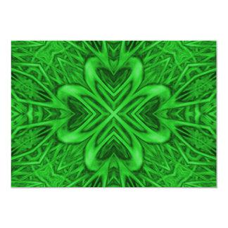 Keltische Klee-Einladungen, Umschläge umfaßten Karte