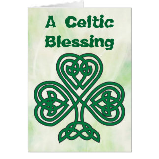 Keltische Kleeblattsegen-Grußkarte Karte