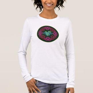 Keltische Knoten-Arbeit veganer Polyamory Langarm T-Shirt
