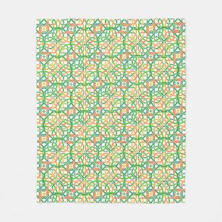 Keltische Knoten Basketweave Borten-buntes Muster Fleecedecke