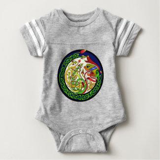 Keltische Knoten-Drache-Mandala Baby Strampler