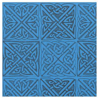 Keltische Knoten im Blau Stoff