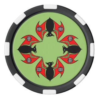 Keltische Knoten-Kolonie des Poker Jetons