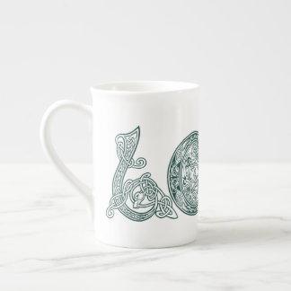 Keltische Knoten-Liebe, St Patrick Tag, irische Porzellantasse