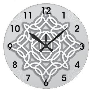 Keltische Knoten-Uhr Große Wanduhr