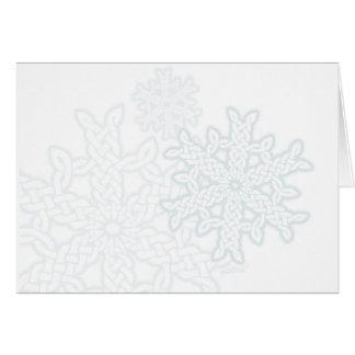 Keltische Knüpfarbeit-Schneeflocken Grußkarte
