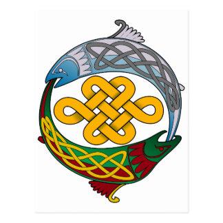 Keltische Lachse Postkarte