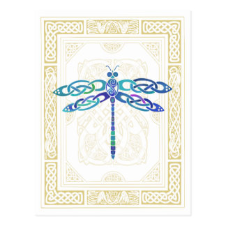 Keltische Libelle Postkarte