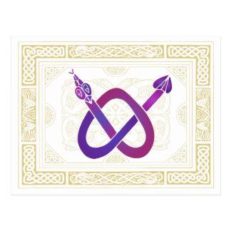 Keltische Schlange Postkarte