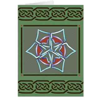 Keltische Schneeflocke-Weihnachten-Karte