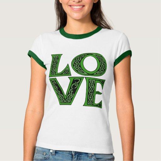 Keltische Schriftart LIEBE Tshirt