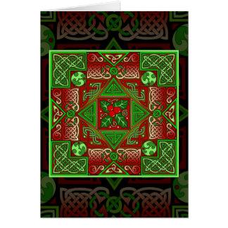 Keltische Stechpalmen-Labyrinth-Karte Grußkarte