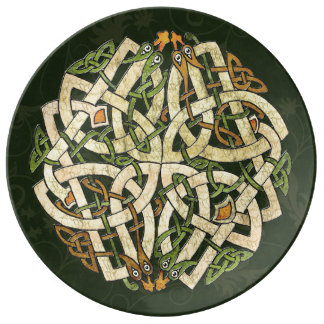 Keltische Verzierung Porzellanteller