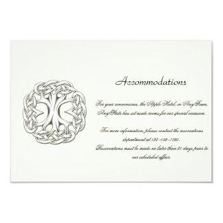 Keltischer Baum des Leben-Hochzeits-Einsatzes Karte